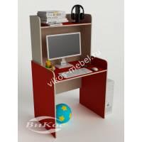 Малогабаритный компьютерный стол цвет красный