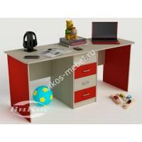 Письменный стол длинный с выдвижными ящиками