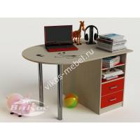 Детский письменный стол для девочки цвет красный