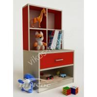 Стильная тумбочка для игрушек и книжек в детскую
