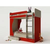 Двухъярусная детская кровать «Карлсон-4» с ящиками и лестницей