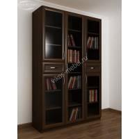 5-дверный книжный шкаф с выдвижными ящиками венге