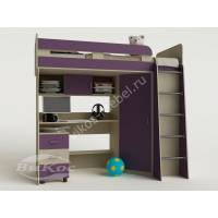 Детская двухъярусная кровать-чердак «Карлсон-2» со столом