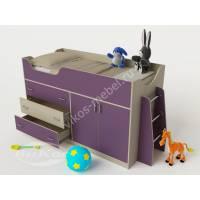 Детская кровать-чердак «Карлсон-микро 2» для мальчика