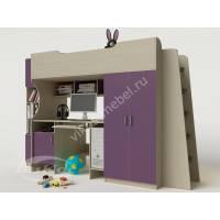 Детская кровать-чердак «Карлсон» с компьютерным столом