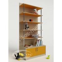 Детский 5-полочный стеллаж для игрушек и книжек