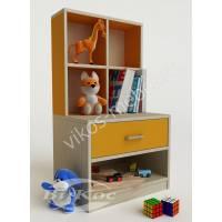 Желтая современная детская тумбочка для игрушек и книг