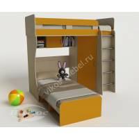 Двухъярусная кровать-чердак «Карлсон-3» для девочек