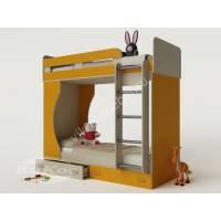 Кровать двухъярусная детская «Карлсон-4» с бортиками