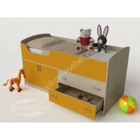 Кровать-чердак «Карлсон-микро» для детей от 3 лет цвет желтый