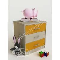 Компактная детская тумба для игрушек желтая