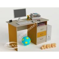 Стол компьютерный для школьника цвет желтый