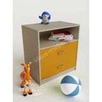 Детский комод с выдвижными ящиками и полочкой