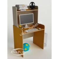 Компьютерный стол прямой с надстройкой цвет желтый