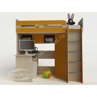 Детская двухъярусная кровать-чердак «Карлсон-1» со столом