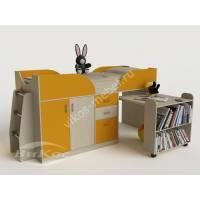Детская кровать-чердак «Карлсон-мини» для девочки цвет желтый
